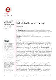 Pdf Linda Lê On Writing And Not Writing
