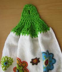 Kitchen Towel Craft Crochet And Other Stuff Free Pattern And Stitch Tutorial No Sew