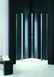 two pivot door quadrant shower enclosure 800mm clear silk screen glass images