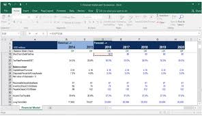 forecast model in excel building a financial model financial modeling course