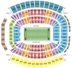 Notre Dame Stadium Detailed Seating Chart Altel Stadium Seating Chart 2019