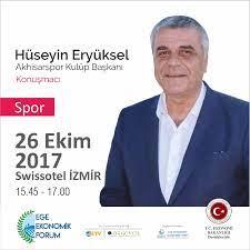 """Ege Ekonomik Forumu on Twitter: """"Hüseyin Eryüksel - 26 Ekim tarihinde 'Ege  Bölgesi ve Spor Ekonomisi ' oturumunda sizlerle.… """""""