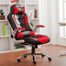 modern high back leather executive office desk task computer chair. life carver new high back pu leather executive office desk task computer chair w/metal base black/red: amazon.co.uk: products modern a