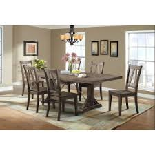 picket house flynn 7 piece dining table set rustic dining room table set p93 rustic