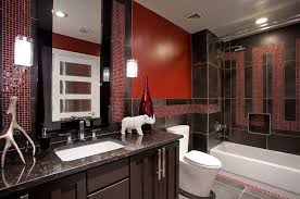 red bathroom color ideas. View In Gallery Black Granite Countertop And Italian Porcelain Tiles Enliven This Bathroom Red Color Ideas E