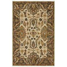 loloi made in india ivory and dark taupe area rug 5 x7 6