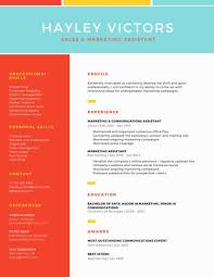 Best Font For Modern Resume Colorful Grid Two Column Modern Resume Templates By Canva