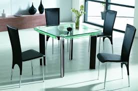 High Gloss Dining Table Rectangle Glass Dining Room Table White Clear Glass Windows