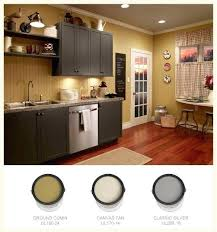Behr Paint For Kitchen Cabinets Rich Gold Walls Contrast With Dark Gray A Trendy