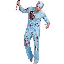 men doctor zombie surgeon costume halloween carnival