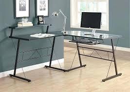 glass top l shaped desk image of black metal glass computer desk l shaped ikea galant
