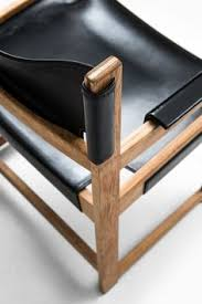 sven kai ln armchairs in oak and leather at studio schalling diningchair