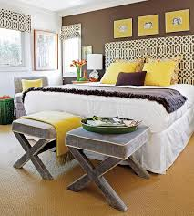 Brown Yellow Bedroom Decoration