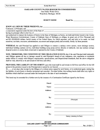 surety bond form form dc 443 surety bond form fill online printable fillable