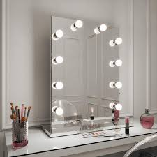 Diaz Hollywood Mirror Portrait 80 X 60cm Free Standing Wall Mounted