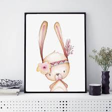 girl s woodland bunny nursery prints little girl s bedroom decoration animal wall art painting home decor picture on little girl bedroom wall art with girl s woodland bunny nursery prints little girl s bedroom