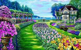 Small Picture Beautiful Garden Mansion Lake wallpapers Beautiful Garden
