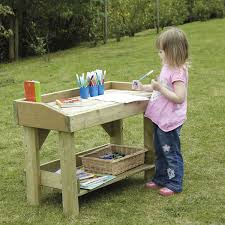 outdoor wooden work bench and trestle multi small