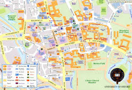 oxford maps  top tourist attractions  free printable city