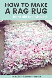 Fabric Rug Diy How To Make A Diy Rag Rug Using Old Bedding