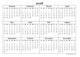 Annual Calendar 2018 - Tier.brianhenry.co