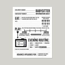 Babysitter Resume Sample Nanny Information Sheet Template Synonym ...