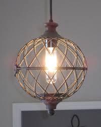 unique rustic lighting. Rustic Metal Globe Pendant Light - Distressed, Lighting, Unique , Farmhouse Style, Vintage, Industrial Light, Kitchen Lighting