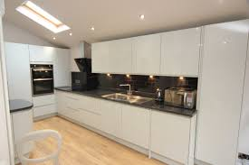 Granite Kitchen Work Tops White Contemporary Kitchen With Granite Worktops Worcester