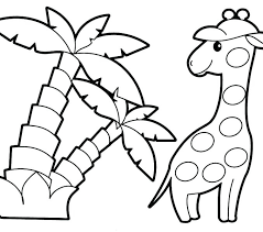 Easy Coloring Pages For Kids Easy Coloring Page Kids Animals Pages