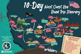 west coast usa road trip best 10 day