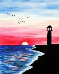 40 easy acrylic painting ideas for