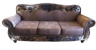 western cowhide couch western cowhide sofa d w light um or dark