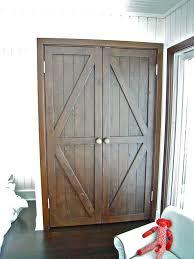 hand made custom reclaimed wood bi fold closet doors for a