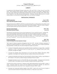 Oracle Sql Developer Resume Free Resume Template Evacassidyme Classy Resume For Oracle Developer