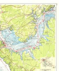 Navigation Chart Cumberland River Lake Barkley Maps