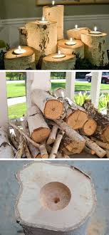 diy crafts for home tree stump candle are the best fall craft ideas diy crafts home