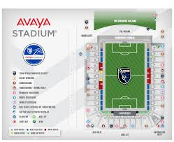 Avaya Stadium Map San Jose Earthquakes Map San Jose