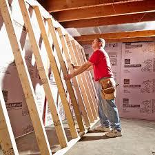 framing basement walls