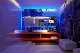 fantastic modern house lighting. New House Lighting. Interior Fantastic Blue Led Light Bulb In The Bathroom Paired Within Modern Lighting K