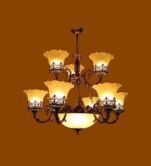 antique black glass metal 15 shade chandelier by aesthetic home solutions