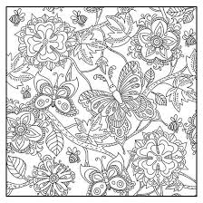 Botanical Garden Adult Coloring Book With Color Pencils Color With