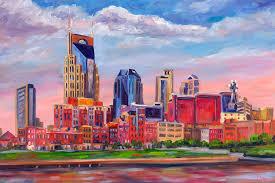 nashville skyline painting nashville skyline painting by jeff pittman