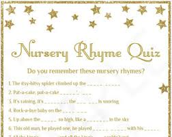 Baby Shower Games Nursery Rhymes