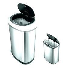 counter top trash can elegant garbage bin waste basket 0 5 white cans grommet countertop