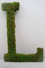 moss wreath letters