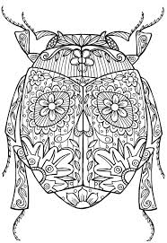Small Picture Beetle Bug Abstract Doodle Zentangle Coloring pages colouring