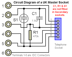 telephones pots master socket circuit