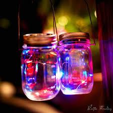 lighting jar. Mason Jar Insert LED Light String Battery Operated DIY Copper Fairy Strip Wire Night Lamp Outdoor Lighting L