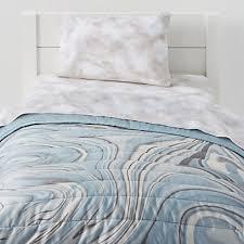 organic blue marble toddler bedding