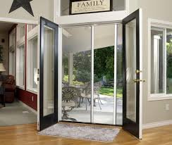french patio doors with screens open